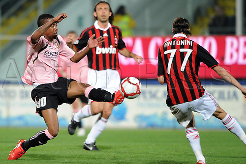 24 04 2010   Serie A Palermo v AC Milan played at the Satdio Barbera. Palermo won 3-1 Abel Hernandez Luca Antonini