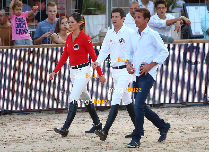 Jessica Springsteen and Guillaume Canet of the Gucci kids team attend the Longines Pro-Am Cup Monaco 2014 during the International Monte-Carlo Jumping at Port Hercule on June 27, 2014 in Monaco, Monaco