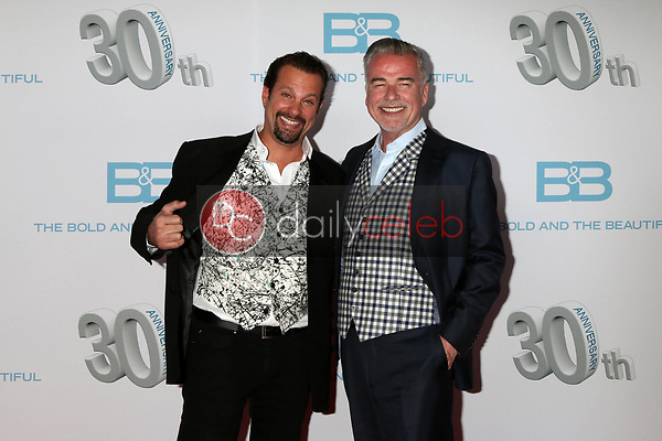 """Paulo Benedetti, Ian Buchanan<br /> at the """"The Bold and The Beautiful"""" 30th Anniversary Party, Clifton's Downtown, Los Angeles, CA 03-18-17<br /> David Edwards/DailyCeleb.com 818-249-4998"""