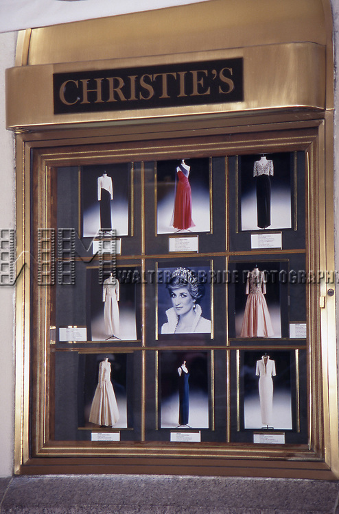 Collection of Princess Diana 'Dresses' Auction to Benefit the Royal Marsden Hospital Cancer Fund and Aids Crisis on June 18, 1997 at Christies in New York City.