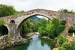 Roman Bridge, 13th century, Cangas de Onis Asturias, Spain