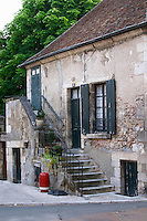 Old house. Sancerre village, Loire, France