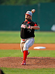 7 July 2008: Batavia Muckdogs' pitcher Lance Lynn in action against the Vermont Lake Monsters at Centennial Field in Burlington, Vermont. The Lake Monsters defeated the Muckdogs 3-2 in the final game of their 3-game series...Mandatory Photo Credit: Ed Wolfstein Photo