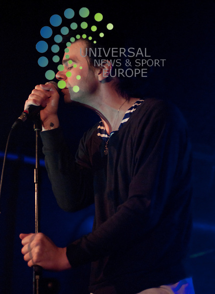 The Charlatans' vocalist Tim Burgess and guitarist Mark Collins embark on a series of intimate live shows across the UK. .The Charlatans, Live Acoustic Set at Oran Mor, Glasgow, UK, 2011.  21 March 2011, Picture: Universal News and Sport (Europe) 2011.