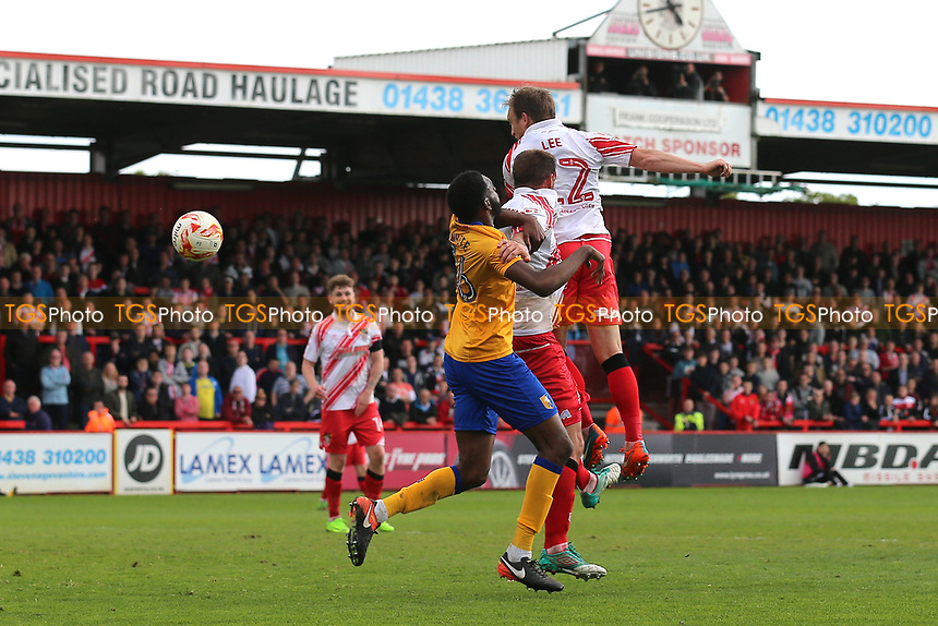 Charlie Lee of Stevenage goes close during Stevenage vs Mansfield Town, Sky Bet EFL League 2 Football at the Lamex Stadium on 22nd April 2017