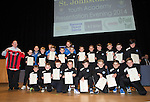 St Johnstone FC Youth Academy Presentation Night at Perth Concert Hall..21.04.14<br /> Under 11's team pictured with sponsor and coaches<br /> Picture by Graeme Hart.<br /> Copyright Perthshire Picture Agency<br /> Tel: 01738 623350  Mobile: 07990 594431