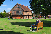 "Great Britain, England, Bedfordshire, Elstow: Elstow Moot Hall, formerly known as the ""Green House"", 15th century Market house on Elstow Green 