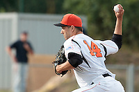 24 july 2010: Dorotheus Draijer of Netherlands pitches against France during Netherlands 10-0 victory over France, in day 2 of the 2010 European Championship Seniors, in Neuenburg, Germany.
