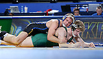 BROOKINGS, SD - FEBRUARY 4:  Alex Kocer from South Dakota State controls Grant LaMont from Utah Valley during their 149 pound match at Frost Arena Saturday night. (Photo by Dave Eggen/Inertia)