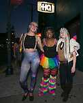 Allison, Telneschia and Fae during the Pride Rainbow Crawl in downtown Reno on Friday night, July 27, 2018.