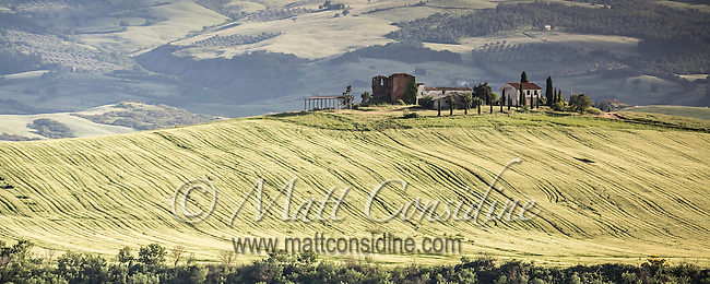 Authentic hilltop villa surrounded by fields of wheat. (Photo by Travel Photographer Matt Considine)