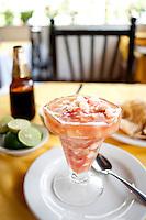 Ceviche de pecado, fish ceviche. Marisqueria Pipos. Acapulco, Guerrero, Mexico