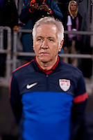 USWNT head coach Tom Sermanni stands on the sidelines before during an international friendly at Crew Stadium in Columbus, OH. The USWNT tiedNew Zealand, 1-1.