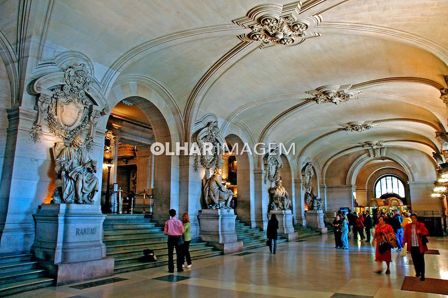 Vista interna doTeatro da Opera em Paris. França. 2005. Foto de Dudu Cavalcanti.