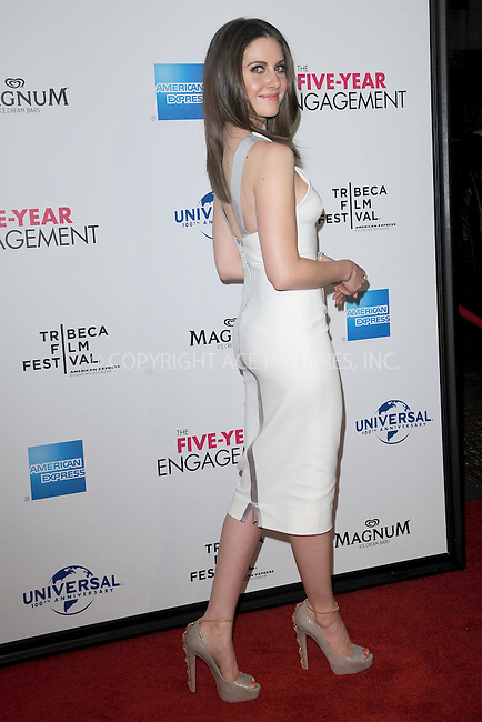 "WWW.ACEPIXS.COM . . . . . .April 18, 2012...New York City....Alison Brie arriving to the Universal Pictures premiere of ""The Five Year Engagement"" for the opening of the Tribeca Film Festival at the Ziegfeld Theatre on April 18, 2012  in New York City ....Please byline: KRISTIN CALLAHAN - ACEPIXS.COM.. . . . . . ..Ace Pictures, Inc: ..tel: (212) 243 8787 or (646) 769 0430..e-mail: info@acepixs.com..web: http://www.acepixs.com ."