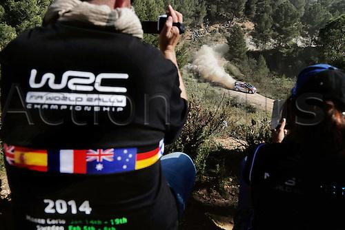 24.10.2014. Catalonia, Spain. WRC Rally of Spain.  Robert Kubica (POL) - SZPA (POL)- Ford Fiesta WRC