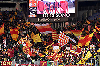 AS Roma fans cheer on ahead the Serie A 2018/2019 football match between AS Roma and Sassuolo at stadio Olimpico, Roma, December, 26, 2018 <br />  Foto Andrea Staccioli / Insidefoto