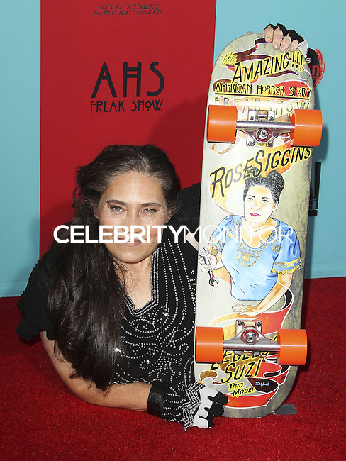 HOLLYWOOD, LOS ANGELES, CA, USA - OCTOBER 05: Rose Siggins arrives at the Los Angeles Premiere Screening Of FX's 'American Horror Story: Freak Show' held at the TCL Chinese Theatre on October 5, 2014 in Hollywood, Los Angeles, California, United States. (Photo by Celebrity Monitor)