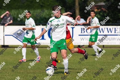 2013-07-06 / Voetbal / Seizoen 2013-2014 / Galamatch/ KSK Retie-KFC Dessel Sport/ Brent Bisschops (m. Dessel Sport)<br /> <br /> Foto: Mpics.be