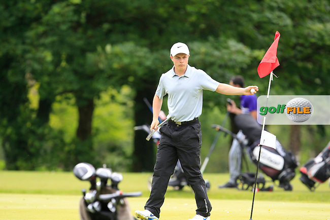 Conor Purcell (Portmarnock) on the 1st green during Round 3 of the Irish Boys Amateur Open Championship at Tuam Golf Club on Thursday 25th June 2015.<br /> Picture:  Thos Caffrey / www.golffile.ie