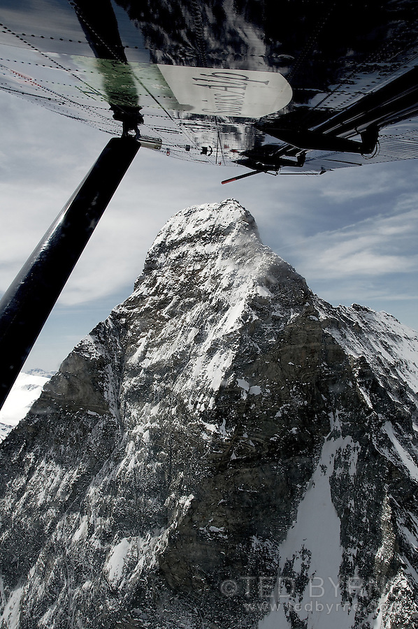Aerial view of Matterhorn summit and steep north face