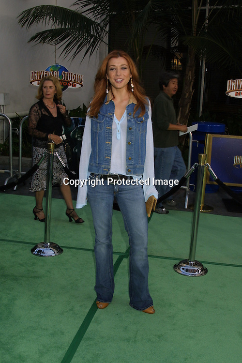 "@2003 KATHY HUTCHINS / HUTCHINS PHOTO AGENCY.""The Hulk"" Premiere.UNIVERSAL AMPITHEATER.UNIVERSAL CITY, CA.JUNE 17 , 2003..ALYSON HANNIGAN"