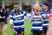 Semesa Rokoduguni and Tom Homer of Bath Rugby after the match. Aviva Premiership match, between Bath Rugby and Saracens on December 3, 2016 at the Recreation Ground in Bath, England. Photo by: Patrick Khachfe / Onside Images