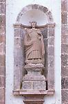 Mexico, Baja California Sur, San Ignacio, Mission San Ignacio Kadakaanman, Statue of Saint