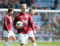 Burnley's Ben Mee during the pre-match warm-up <br /> <br /> Photographer Rich Linley/CameraSport<br /> <br /> The Premier League - Saturday 13th April 2019 - Burnley v Cardiff City - Turf Moor - Burnley<br /> <br /> World Copyright © 2019 CameraSport. All rights reserved. 43 Linden Ave. Countesthorpe. Leicester. England. LE8 5PG - Tel: +44 (0) 116 277 4147 - admin@camerasport.com - www.camerasport.com