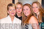 GOOD: Having a good time at the Moyvane GAA Social in Kirby's Lanterns Hotel, Tarbert, on Friday night were Philomena Molyneaux, Erin Stack, Norellia Molyneaux and Breda Lane.   Copyright Kerry's Eye 2008