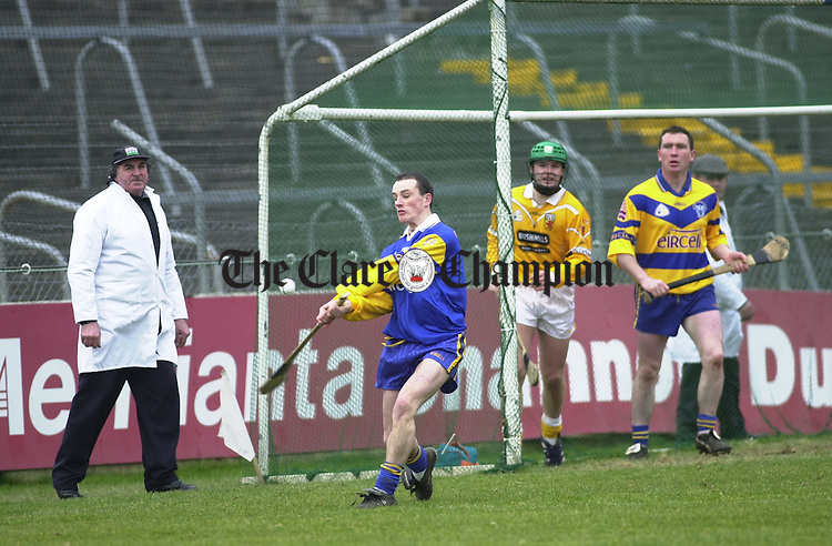 Davy Fitzgerald (left) and Brian Quinn, Clare hurlers.