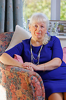 Pictured: Lynne Lewis at her house is Pentwyn near Pontypool, Wales, UK. Sunday 09 December 2018<br /> Re: Lynne Lewis, 66, from Pentwyn, south Wales, whose late husband Thomas John Lewis worked for BT for 42 years and BT keep delaying his pension pay out after his death in early November 2018.