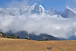 Man in Clouds, Nepal