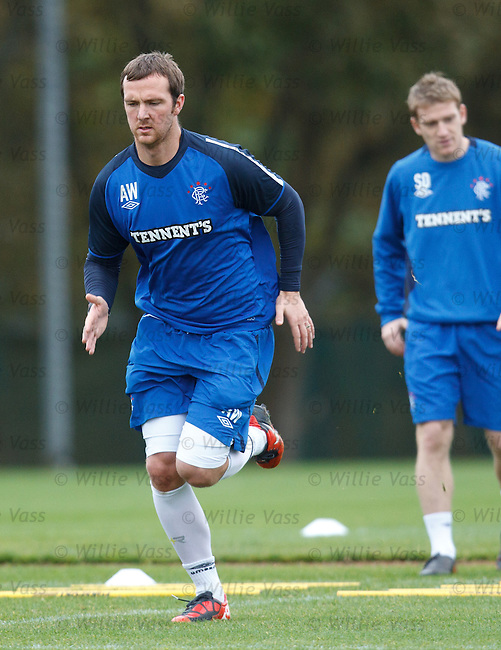 Andy Webster at training