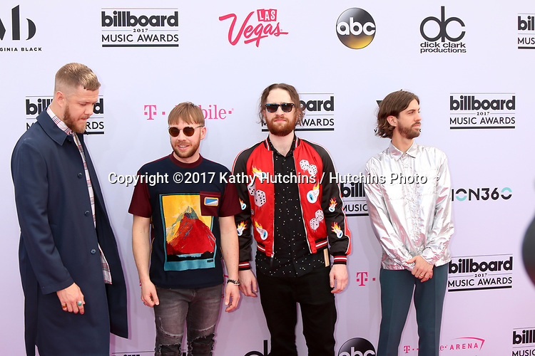 LAS VEGAS - MAY 21:  Dan Reynolds, Ben McKee, Daniel Platzman, Wayne Sermon at the 2017 Billboard Music Awards - Arrivals at the T-Mobile Arena on May 21, 2017 in Las Vegas, NV