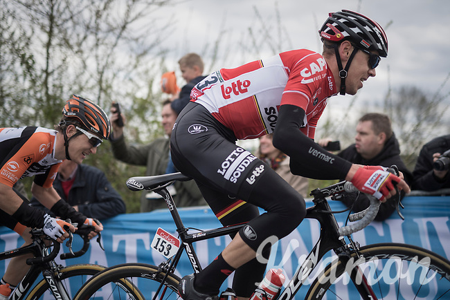 Bart De Clercq (BEL/Lotto-Soudal) in the race lead up La Redoute<br /> <br /> 103rd Li&egrave;ge-Bastogne-Li&egrave;ge 2017 (1.UWT)<br /> One Day Race: Li&egrave;ge &rsaquo; Ans (258km)