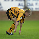 13/08/2002                   Copyright Pic : James Stewart.File Name : stewart-alloa v ross cty 08.ALLOA'S BROWN FERGUSON PICKS HIMSELF UP AFTER HE SCORED INTO HIS OWN NET....Payments to :-.James Stewart Photo Agency, 19 Carronlea Drive, Falkirk. FK2 8DN      Vat Reg No. 607 6932 25.Office     : +44 (0)1324 570906     .Mobile  : +44 (0)7721 416997.Fax         :  +44 (0)1324 570906.E-mail  :  jim@jspa.co.uk.If you require further information then contact Jim Stewart on any of the numbers above.........