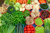 Vegetables for sale at Tromsikhang Market, Barkhor, Lhasa, Tibet.