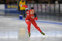SCHAATSEN: BERLIJN: Sportforum, Essent ISU World Cup Speed Skating | The Final, 10-03-2012, 500m Ladies, Hong Zhang (CHN), ©foto Martin de Jong