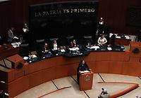 Ciudad de México. 08 Octubre del 2019.- Esta tarde en el pleno del Senado se discutió la aprobación de la renuncia de Eduardo Medina Mora como ministro de la Suprema Corte de Justicia de la Nación (SCJN). Entre exigencias para que sea investigado por el caso Atenco, tráfico de influencias y tras acusaciones en su contra se aprobó su renuncia, con 111 votos a favor, 13 en contra y cinco abstenciones. Asimismo, Mónica Fernández Balboa, presidenta de la Cámara alta declaró abierto el proceso para la nueva elección de ministro o ministra.