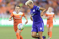 Lianne Sanderson (10) of the Orlando Pride gains control of a loose ball against the Houston Dash on Friday, May 20, 2016 at BBVA Compass Stadium in Houston Texas. The Orlando Pride defeated the Houston Dash 1-0.
