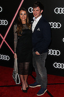 LOS ANGELES, CA - JANUARY 09: Angela Stacy, Matt Lanter at the Audi Golden Globe Awards 2014 Cocktail Party held at Cecconi's Restaurant on January 9, 2014 in Los Angeles, California. (Photo by Xavier Collin/Celebrity Monitor)