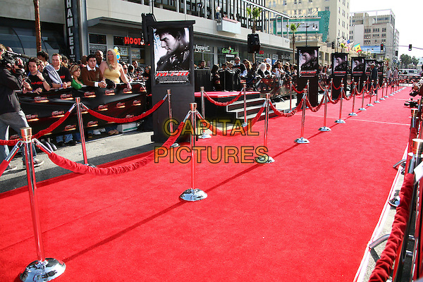 "ATMOSPHERE.""Mission: Impossible III"" Fan Screening at Grauman's Chinese Theater, Hollywood, California, USA..May 4th, 2006.Photo: Byron Purvis/AdMedia/Capital Pictures.Ref: BP/ADM.red carpet ropes.www.capitalpictures.com.sales@capitalpictures.com.© Capital Pictures."