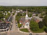 church, Wellesley, MA aerial