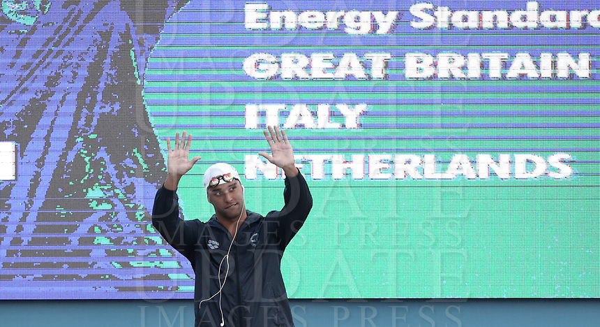 Nuoto 55 Settecolli trophy Foro Italico, Rome on June, 29 2018.<br /> Swimmer Chad Le Clos, of South Africa,  prior to the men's 100 meters butterfly at the Settecolli swimming trophy in Rome, on 29 June, 2018.<br /> UPDATE IMAGES PRESS/Isabella Bonotto