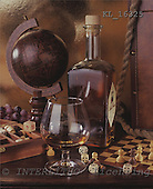 Interlitho, Alberto, STILL LIFES,  photos, bottle, globe, KL16325,#I# Männer, masculino, hombres