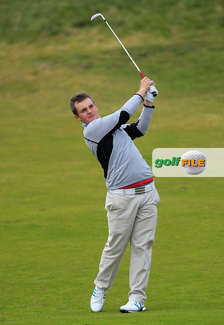 Jack Hume (Naas) on the 7th fairway during the Flogas Irish Amateur Open Championship Am-Am at Royal Dublin on Monday 9th May 2016.<br /> Picture:  Thos Caffrey / www.golffile.ie