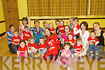 Nationwide: Jo Jordan with parents and children of the Baby Boogie group who were filmed by RTE Nationwide on Friday morning at St Patrick's Hall, Listowel..