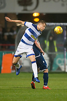 1st November 2019; Dens Park, Dundee, Scotland; Scottish Championship Football, Dundee Football Club versus Greenock Morton; Peter Grant of Greenock Morton clears from Paul McGowan of Dundee  - Editorial Use
