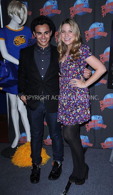 WWW.ACEPIXS.COM . . . . . ....August 12 2009, New York City....Actors Adamo Ruggiero and Lauren Collins visits Planet Hollywood Times Square on August 12, 2009 in New York City.....Please byline: KRISTIN CALLAHAN - ACEPIXS.COM.. . . . . . ..Ace Pictures, Inc:  ..tel: (212) 243 8787 or (646) 769 0430..e-mail: info@acepixs.com..web: http://www.acepixs.com